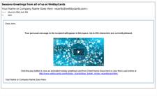 eCard Sending System Sample eMail