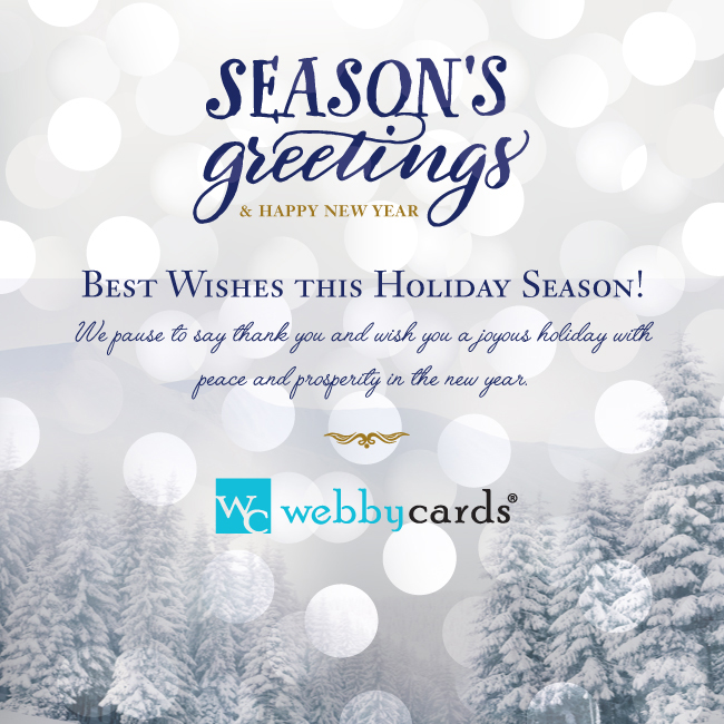 Winter frost non animated holiday corporate ecard mobile friendly winter frost non animated m4hsunfo