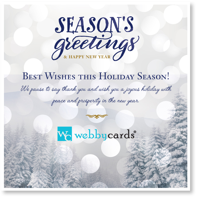 Winter Frost Non-Animated Holiday Corporate eCard - Mobile Friendly ...