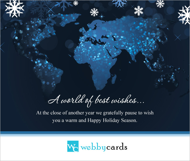 A world of best wishes non animated holiday corporate ecard for a world of best wishes non animated m4hsunfo