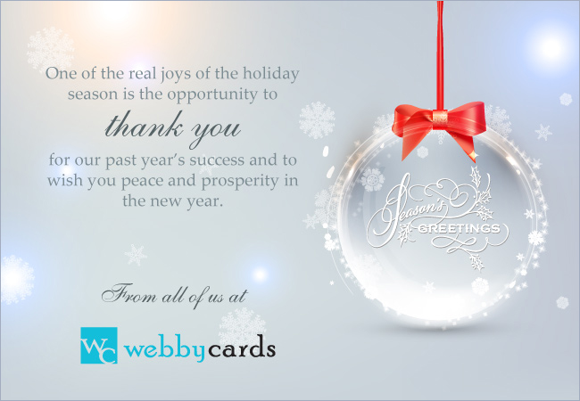 Elegant Seasons Greetings Ornament Corporate Holiday eCard ...