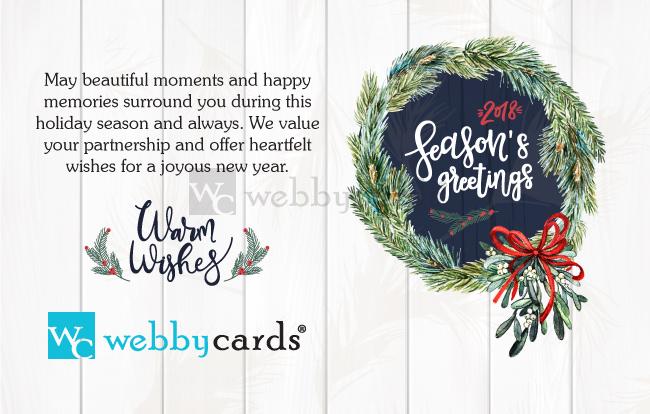 Seasons Greetings White Pine Photo Holiday eCard - Corporate Non ...