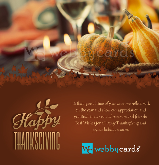 thanksgiving feast photo ecard
