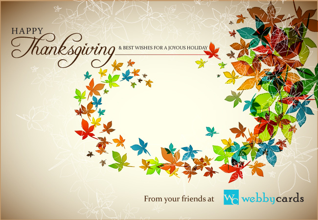 Corporate thanksgiving animated ecard colorful autumn leaves non colorful autumn leaves non animated m4hsunfo