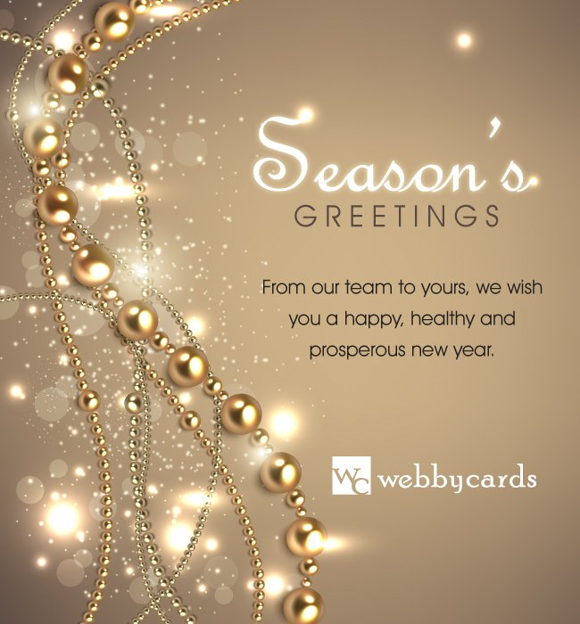 Elegant Beads Light BG Non-Animated Holiday Corporate ...