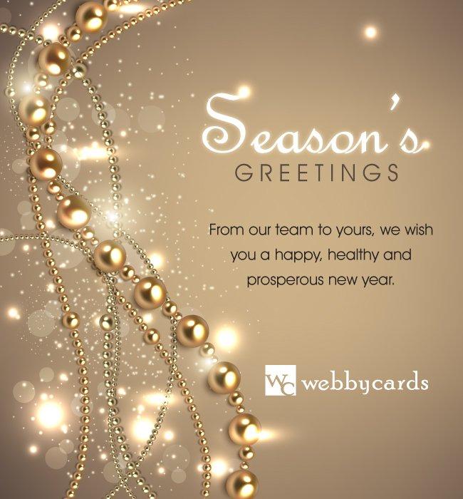 elegant beads light bg nonanimated holiday corporate
