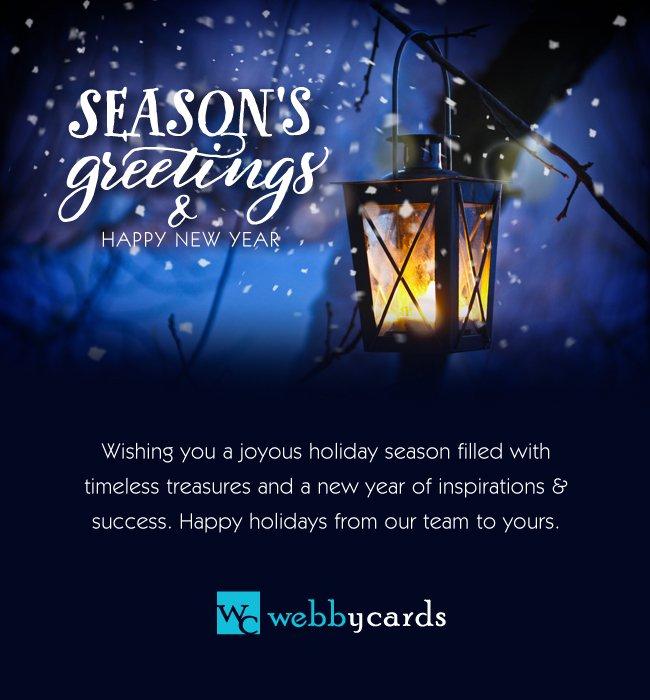 Seasons greetings lantern non animated holiday corporate ecard seasons greetings lantern non animated m4hsunfo